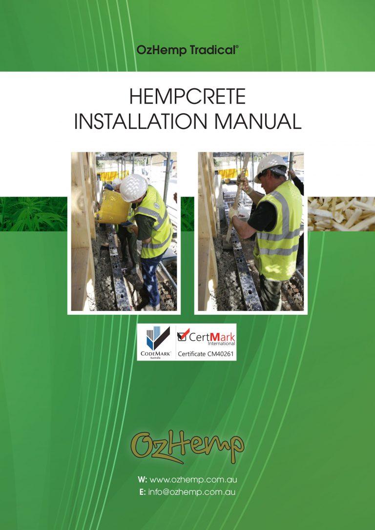 OzHemp Tradical Hempcrete Installation Manual