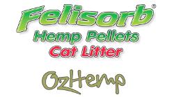 Felisorb hemp pellets cat litter